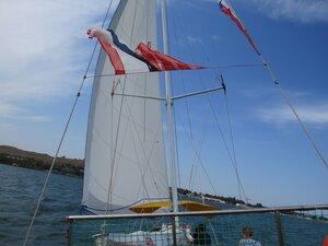 На парусной яхте в Керчи