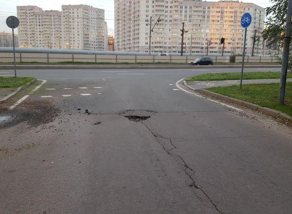 ВПетербурге ремонт дорог шокировал жителей Приморского района
