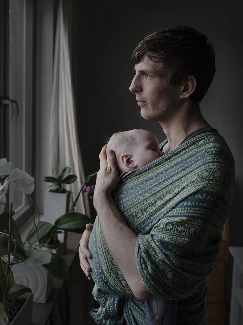Гьоран Севелин, 27, студент. Взял академический отпуск, чтобы ухаживать за своей дочерью Лив.
