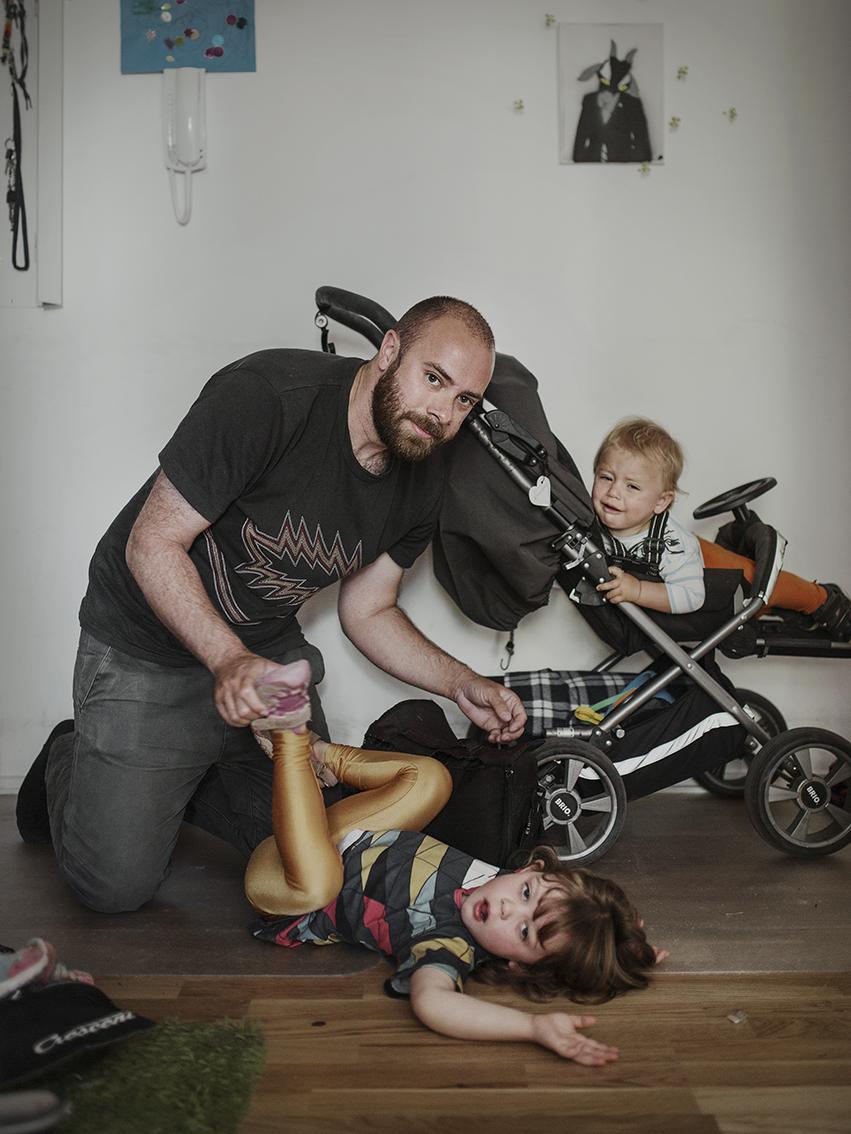 Сача ав Веттрштедт, 33 года. Отпуск по уходу за ребенком они с женой поделили поровну.