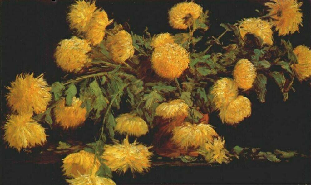 Уильям Меррит Чейз. Хризантемы.