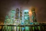 Москва-сити под дождем