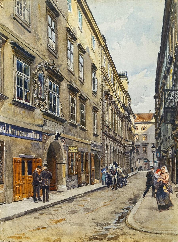 Vienna, Bäckerstraße.