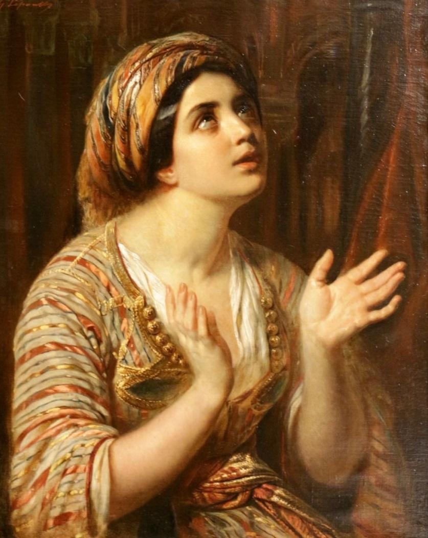 Jeune dame en prière