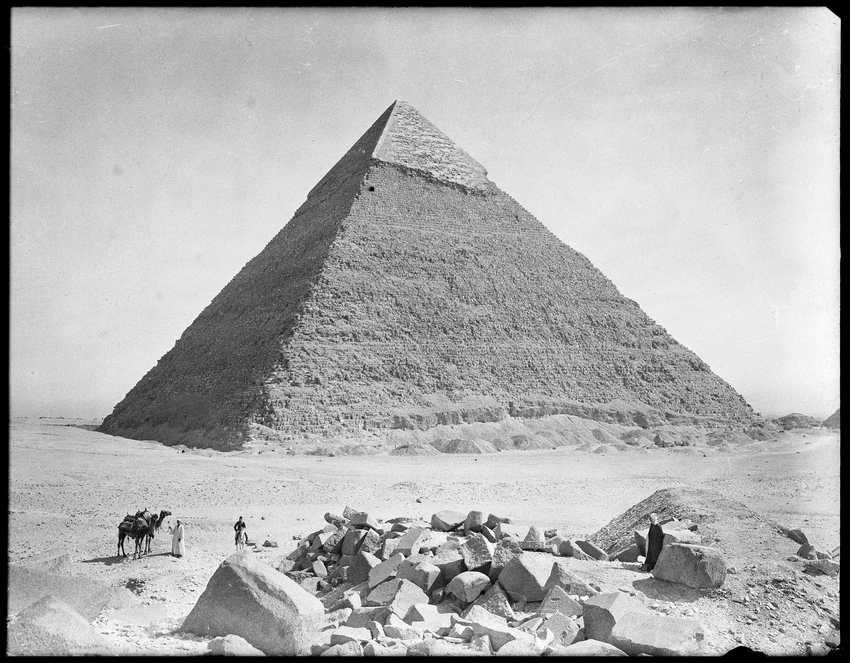 Гиза. Вид с запада на пирамиду