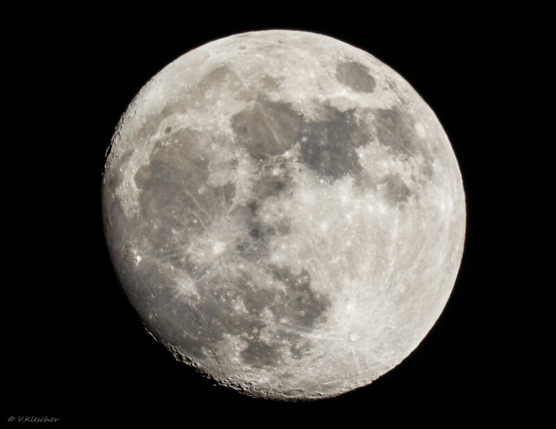 Луна 29 января. Вид из Самары.