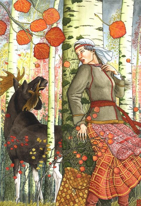 Деревья в женских образах / художник Николай Фомин