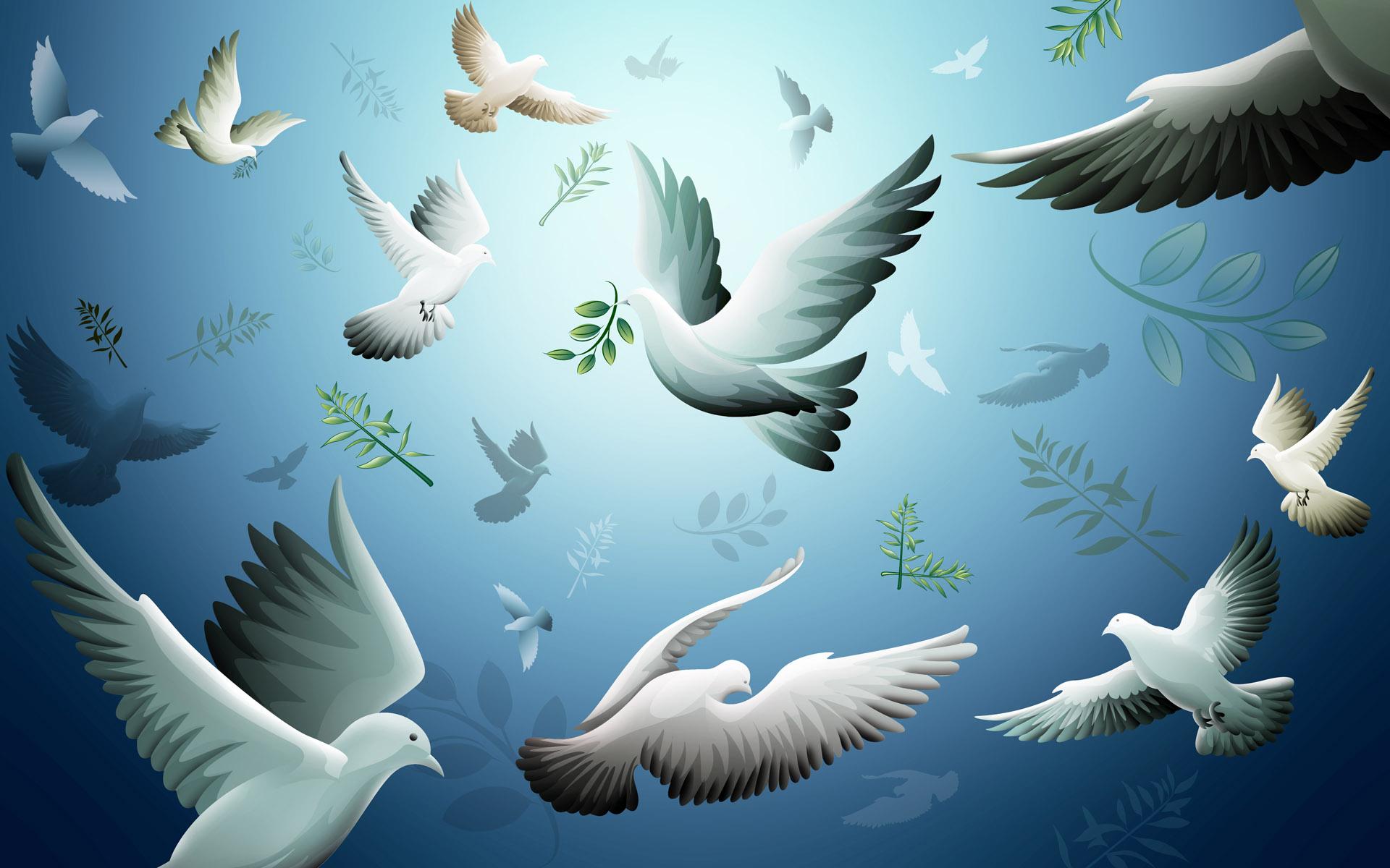 21 сентября — Международный день мира. Голуби в небе