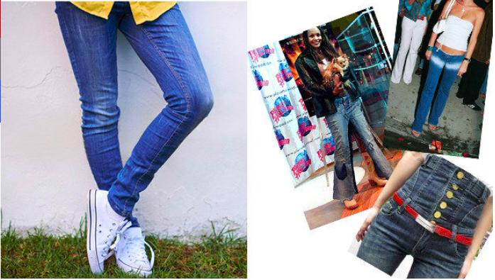 Джинсы Сейчас: просто штаны из денима. Тогда: совершенно безумные модели штанов, желательно с очень