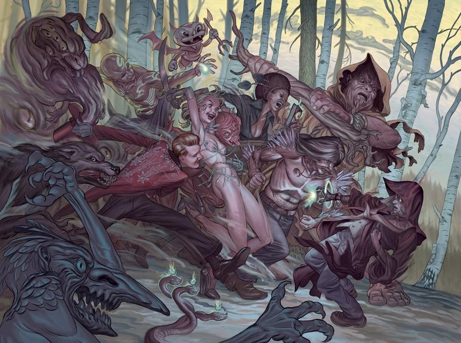 Вампиры, обортни и другая нечисть в иллюстрациях Стива Морриса (8 фото)