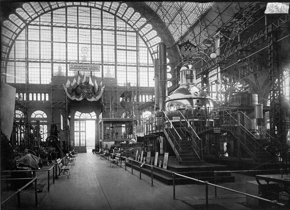8. Машинный отдел Всероссийской художественно-промышленной выставки. 1896 г. Негатив 18×