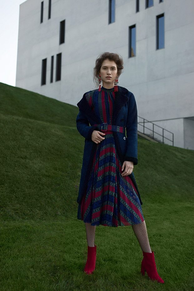 Dress: 405Story Jacket & Earrings: Zara Shoes: Stradivarius Tights: H&M