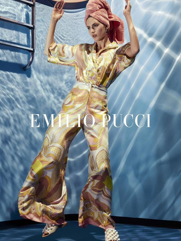 Valery Kaufman Models Emilio Pucci Spring Summer 2018 Collection