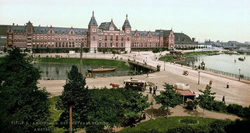 железнодорожный вокзал в конце XIX века