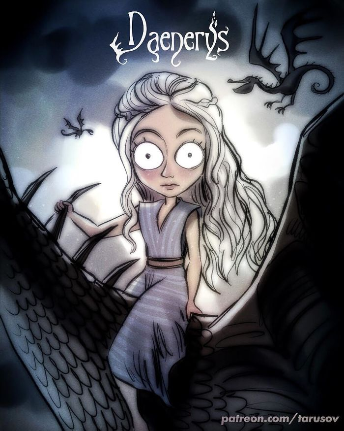 Como seria Game of Thrones se feito por Tim Burton