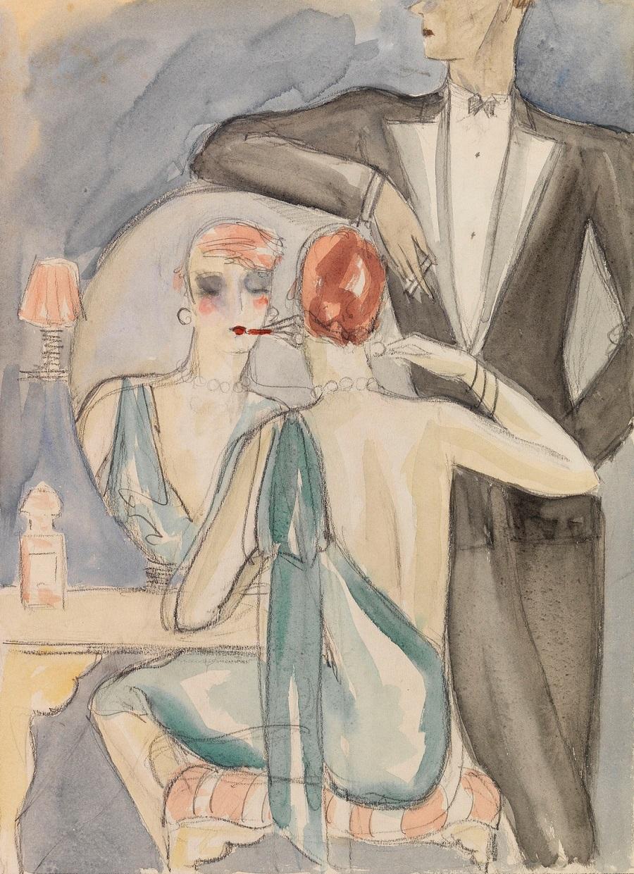 1920-1925 Макияж перед балом (Das Make-up vor dem Ball)
