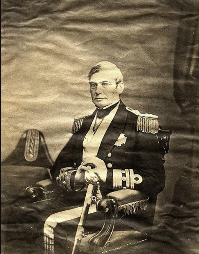 1850. Сэр Александр Милн (1806-1896), 1-й баронет и адмирал флота Королевского флота
