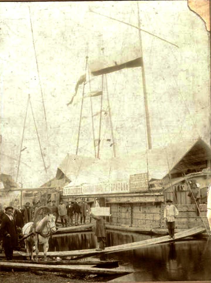 Судно купца Алексеева на реке Лена