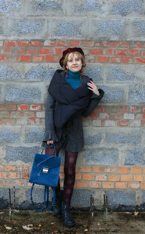 Стеганый шарф, сумка, берет - Zara