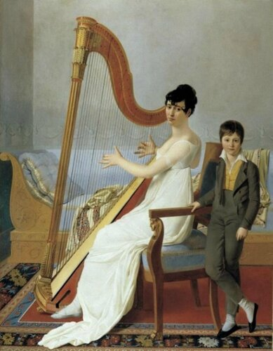 Joseph-Denis Odevaere (Belgian, 1778-1830) Portrait of Mother and Son (Madame Vigier and her Son). 1805