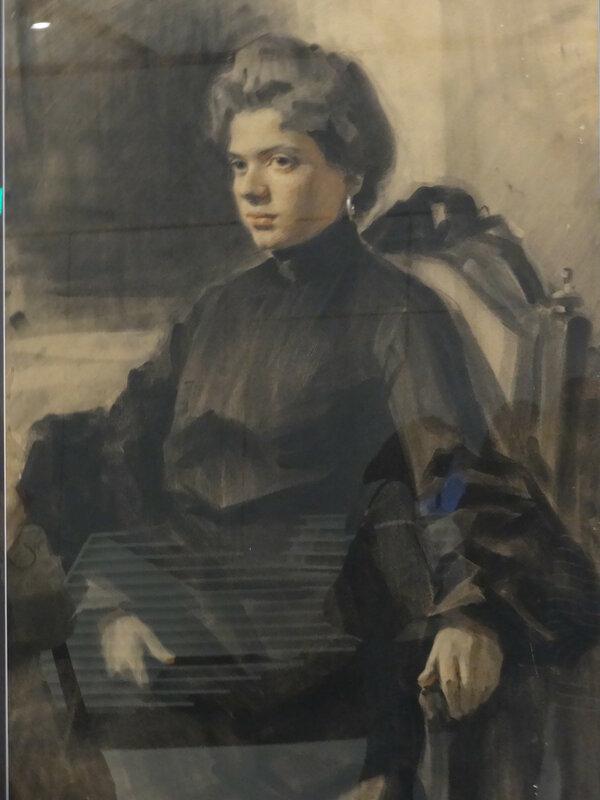Михаил Соколов 1875 - 1953 Портрет жены (Александра Георгиевна Соколова), 1910-е Частная коллекция1.JPG