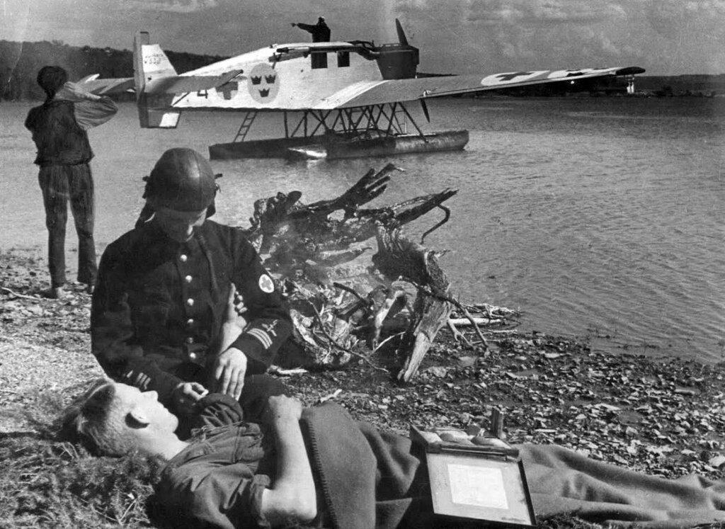 Junkers W 33. SUEDE - Avion ambulance - LIFE