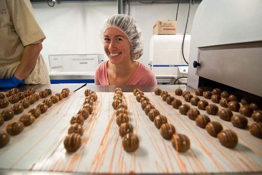 24. В Бельгии производством шоколада занимаются 17 000 человек.