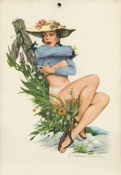 Pin-Up девушки из журнала Esquire, 1948 год