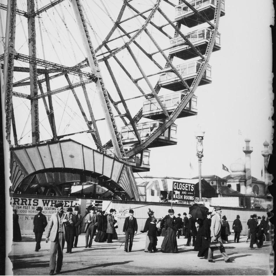 Кстати, одно из колес обозрения, сконструированное Феррисом, сохранилось и до наших дней.
