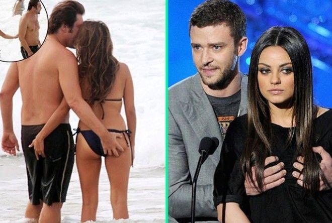 12 знаменитостей, которые проявляют особый интерес к интимным местам коллег (13 фото)