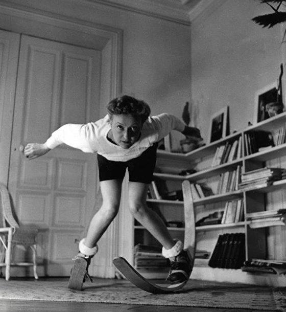 зимние игры зимние развлечения спорт керлинг костюм Нидерланды ретро популярное