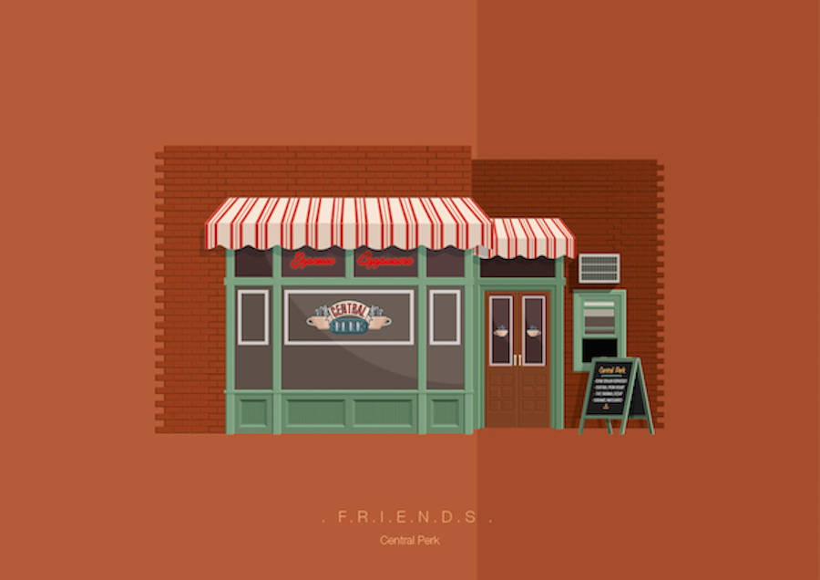Popular Movie and TV Show Settings Illustrations