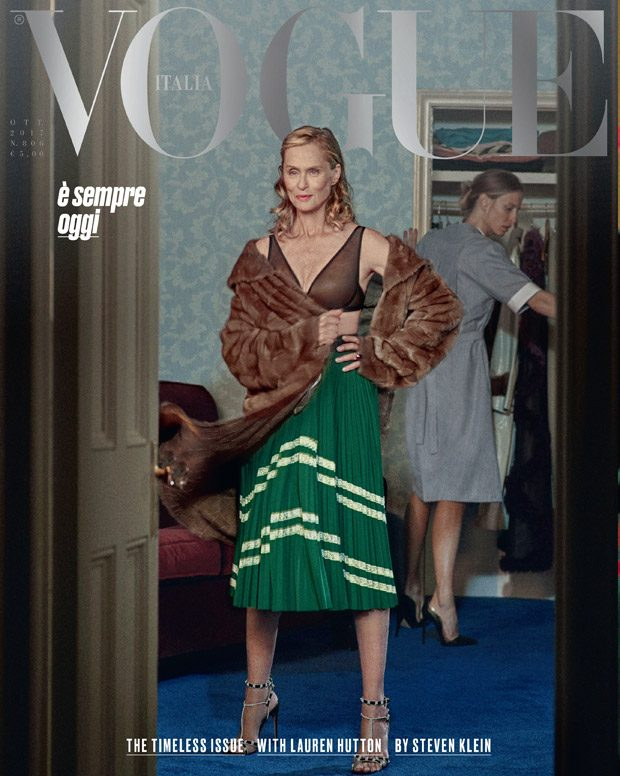#TheTimelessIssue: Lauren Hutton Stars on the Cover of Vogue Italia (3 pics)