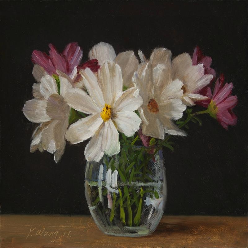 Американская  художница  Youqing (Eugene) Wang.  Сosmos-flower.