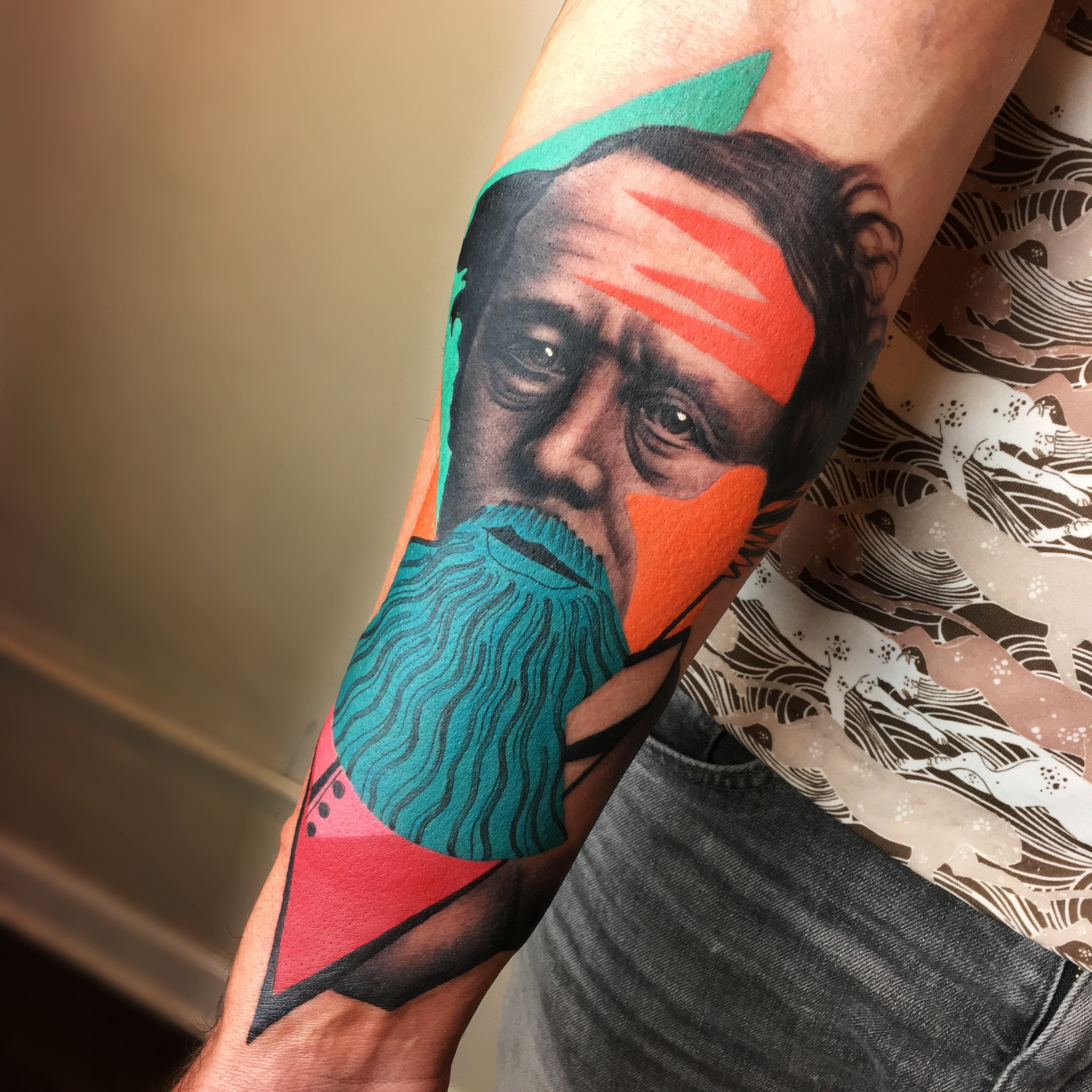 Cubic and Abstract Tattoos by Mike Boyd