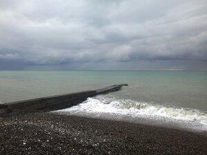 У моря Чёрного, в Абхазии, время зимнее, Новогоднее (24).JPG