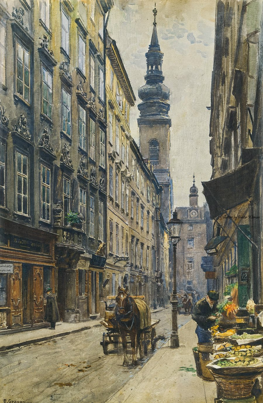 The Jesuit Curch and College at the Sonnenfelsgasse in Vienna , 1911