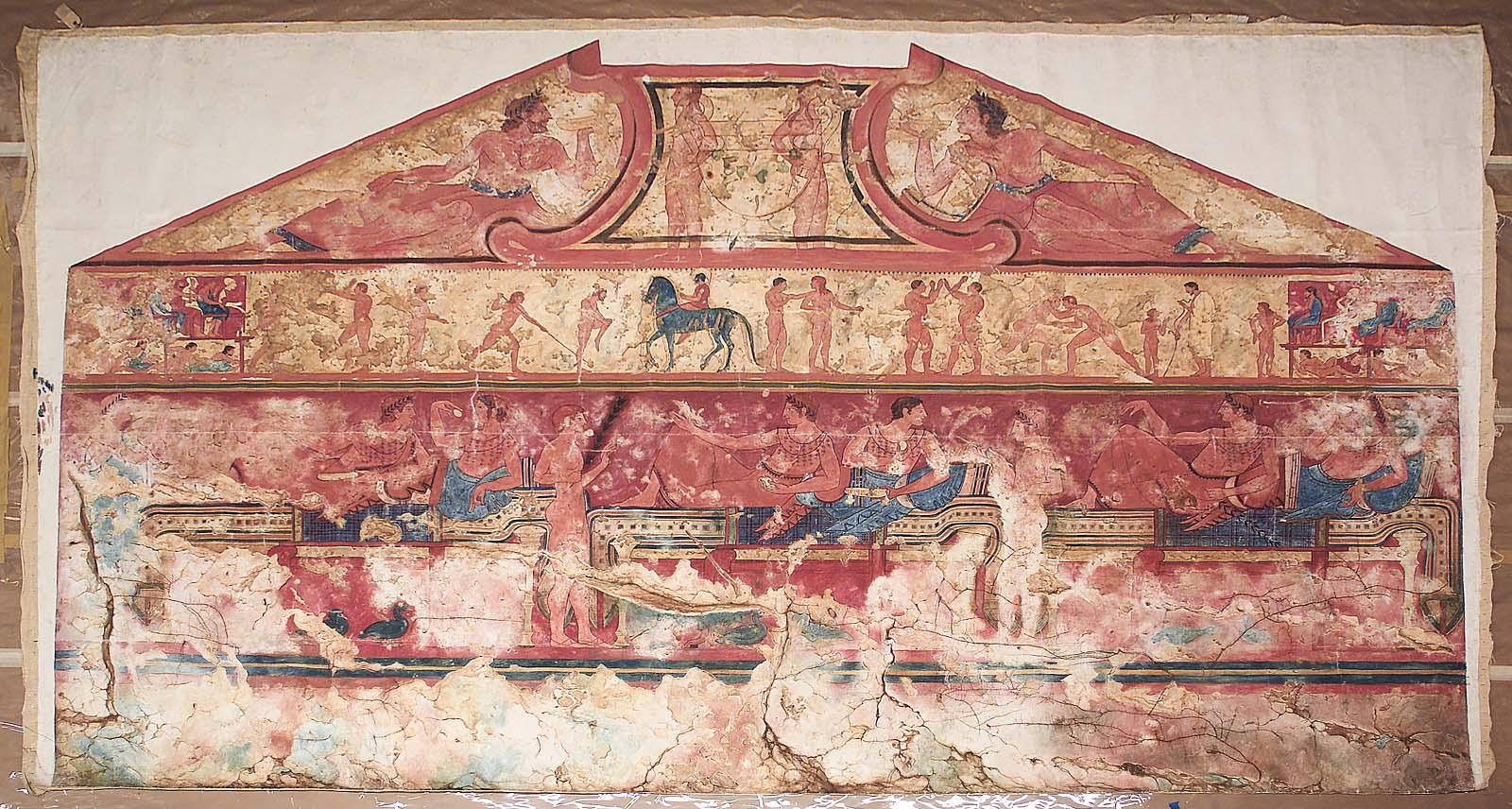 Гробница Колесниц. Изображение на задней стене