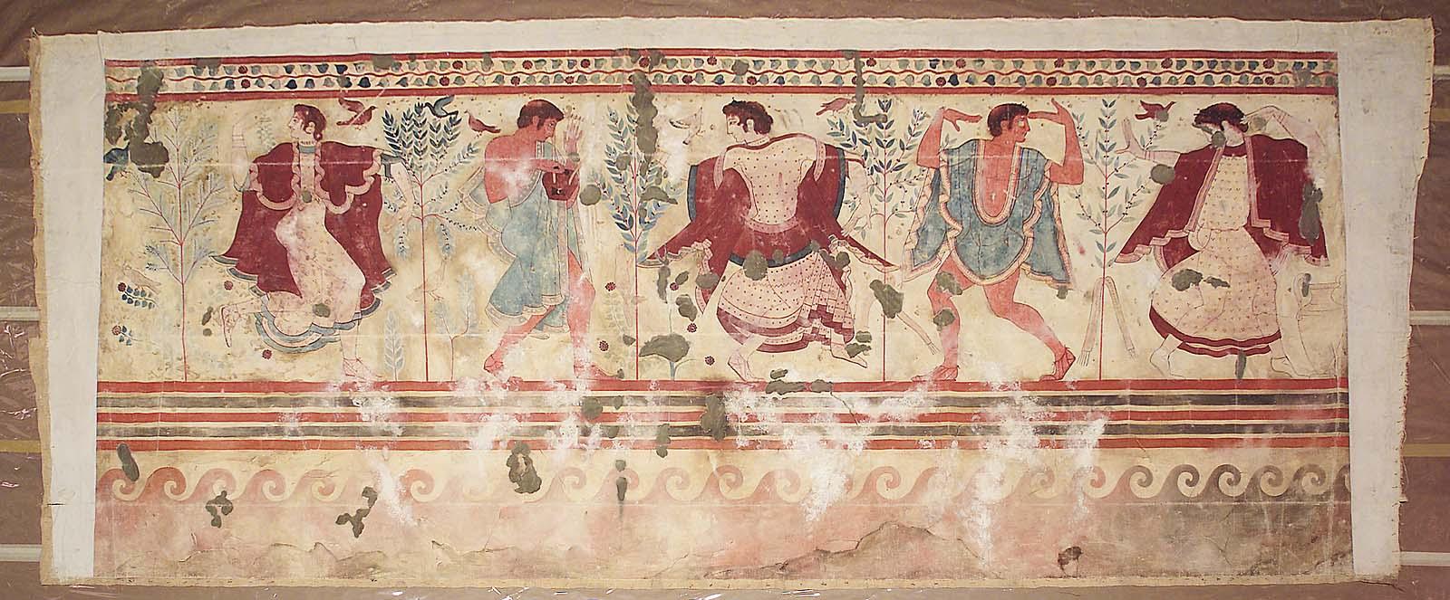 Гробница Триклиния.  Западная стена