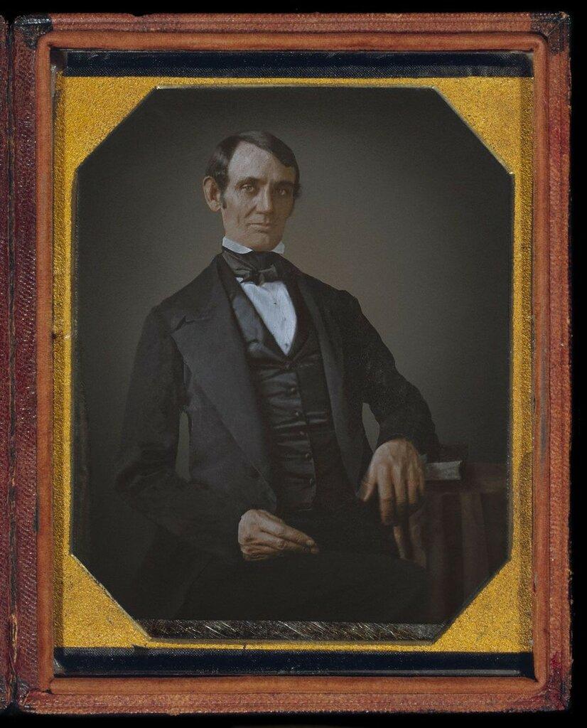 1846. Портрет Авраама Линкольна, без бороды, в возрасте 37 лет. Пройдет еще четырнадцать лет, прежде чем Авраам Линкольн станет 16-м президентом Соединенных Штатов