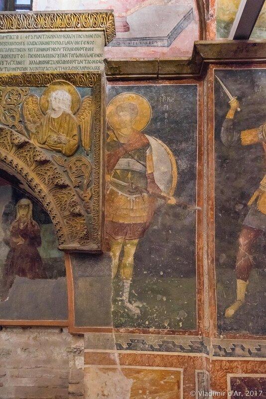 Могила конставла Михаила Торника (ум. ок. 1328 г.) и его жены. Мозаики и фрески монастыря Хора. Церковь Христа Спасителя в Полях. Парэкклесий.