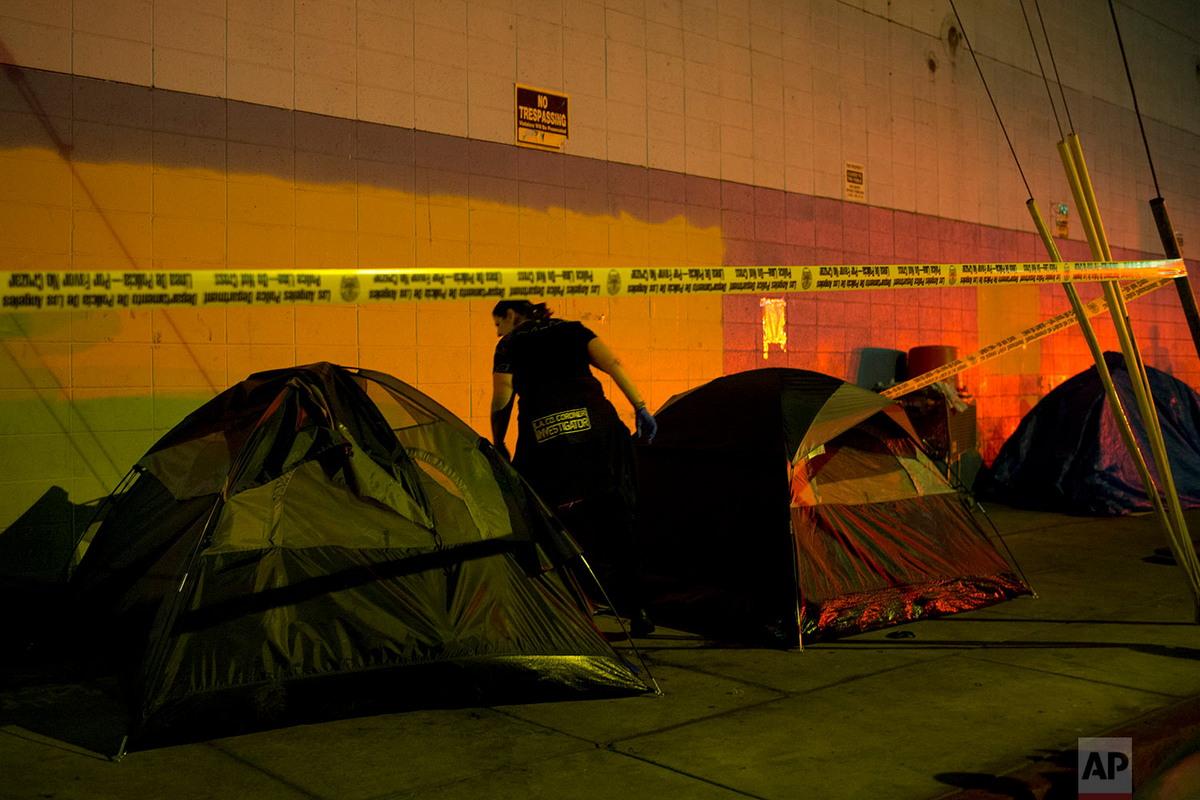 Район Скид Роу в  Лос-Анджелесе: пристанище бомжей и наркоманов