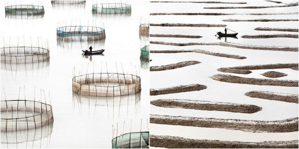 Китайская аквакультура в серии «Прибрежная геометрия»