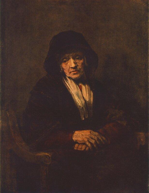 Портрет пожилой женщины, 1654