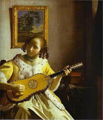 Johannes Vermeer The Guitar Player
