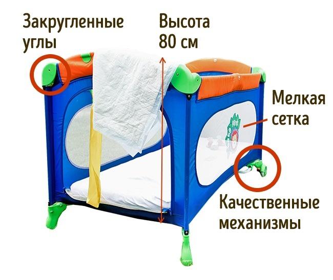 © depositphotos.com  Желательны манежи издерева, ноесли пространства вдоме мало, топодойду