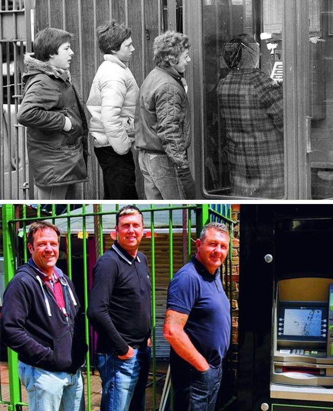 © chrisporsz.com  Слева направо: Джон Моррис, Пол Бернард иЭндрю Поллард. Надворе 19