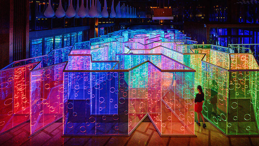 Colorful & Illuminated Labyrinthe in China (9 pics)