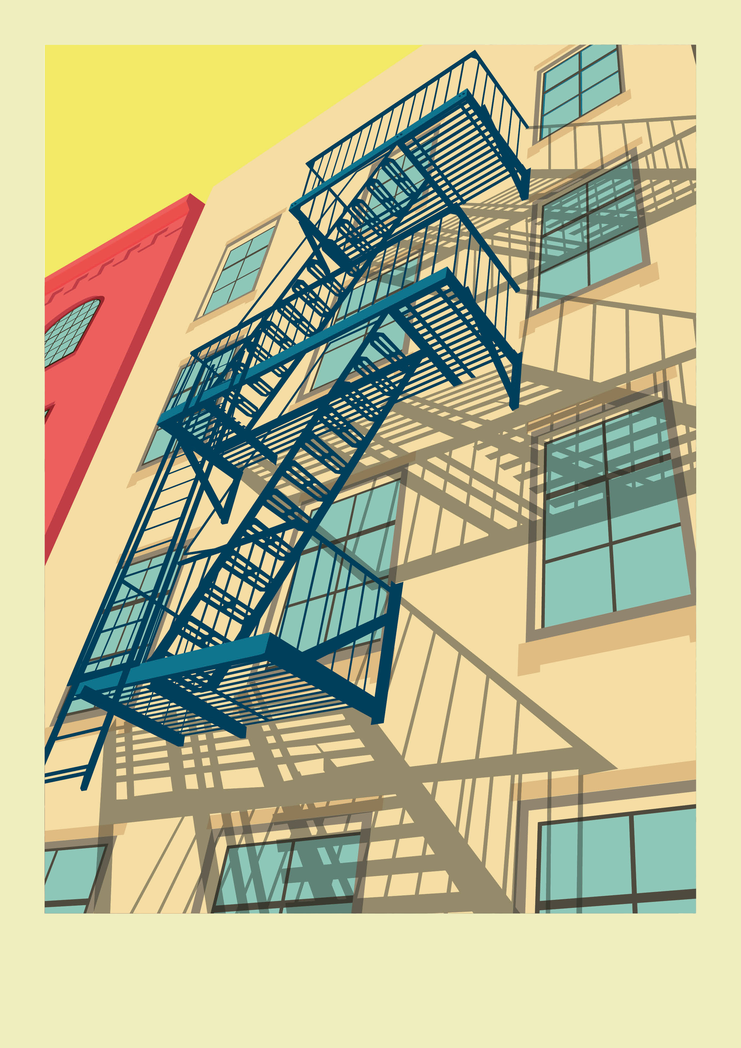 Colourful New York City Illustrations by Remko Heemskerk