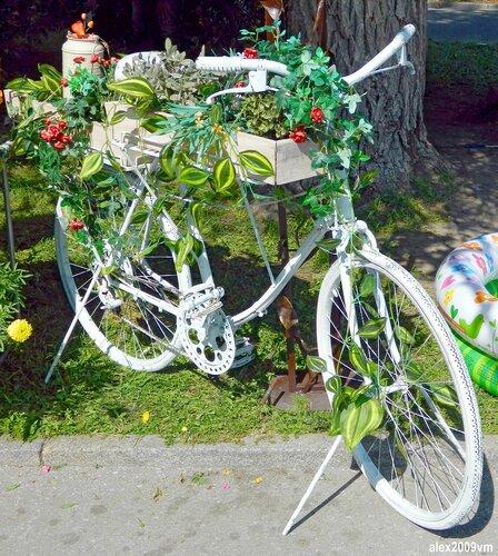 Такой белый велосипед!